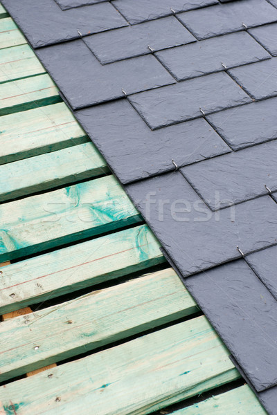 Roof, slate Stock photo © ChrisJung