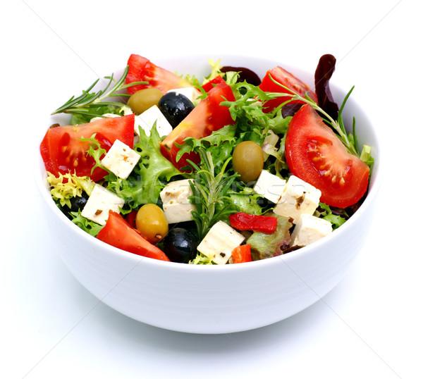 Salade feta vers olijfolie tomaten Stockfoto © ChrisJung
