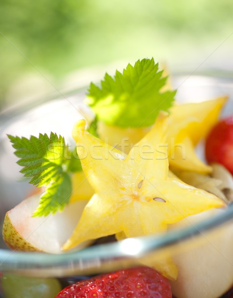 Salade de fruits fruits frais salade fruits dessert fraîches Photo stock © ChrisJung