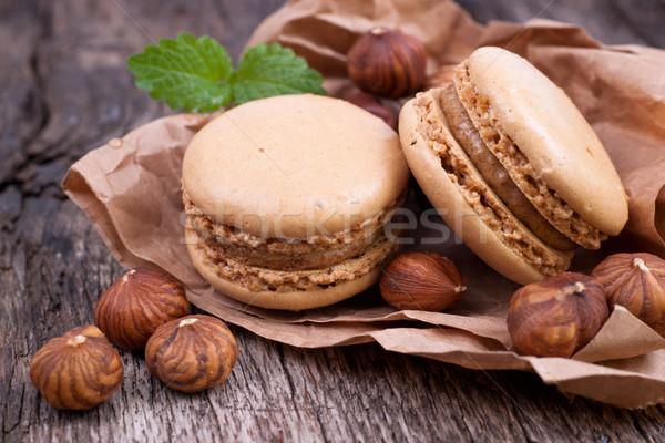 Mogyoró étel kávézó édes sütik finom Stock fotó © ChrisJung