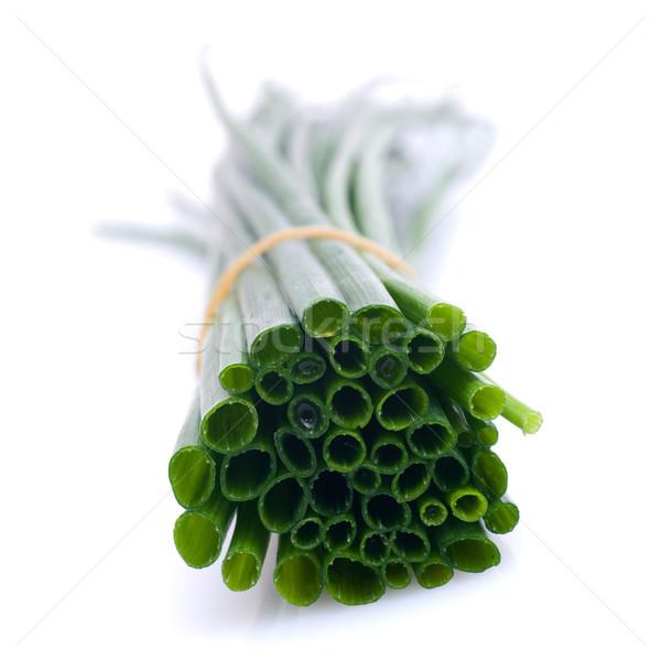 Frescos cebollino alimentos hortalizas cosecha nutrición Foto stock © ChrisJung