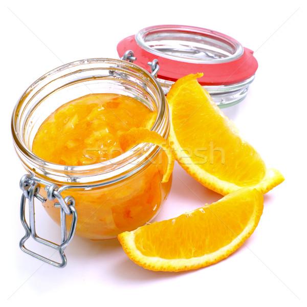 Narancs zselé izolált gyümölcsök reggeli Stock fotó © ChrisJung