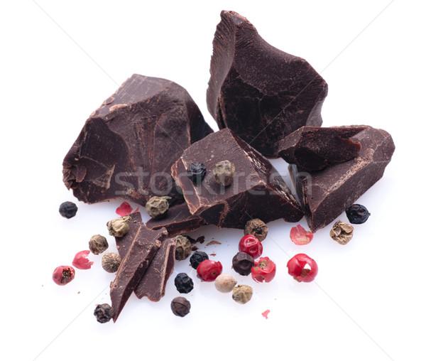 Foto d'archivio: Cioccolato · pepe · bianco · terra