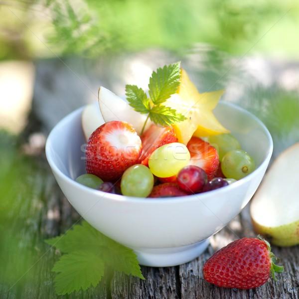 Vruchtensalade vers fruit salade vruchten dessert vers Stockfoto © ChrisJung