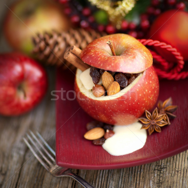 Baked apple Stock photo © ChrisJung