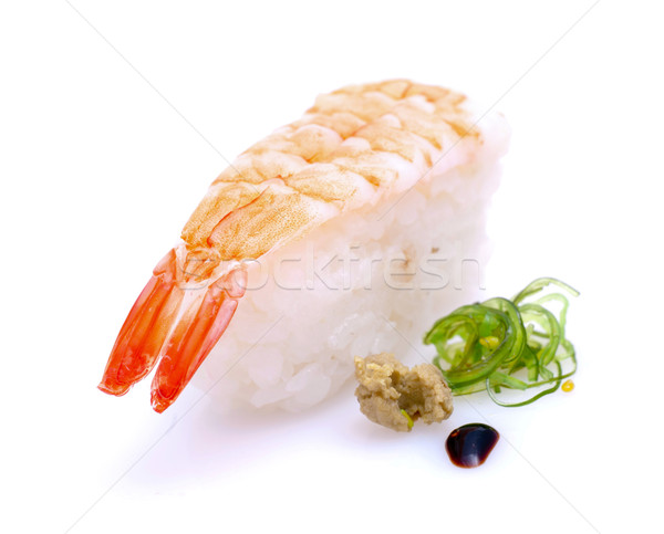 Photo stock: Sushis · fraîches · blanche · sol · riz