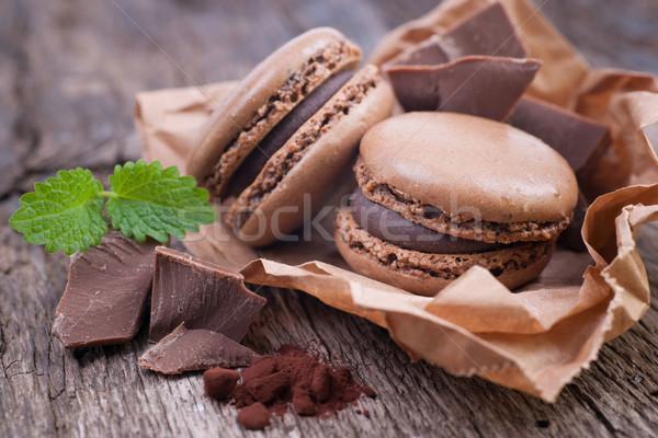 Foto d'archivio: Cioccolato · alimentare · sfondo · torta · cafe · cookies