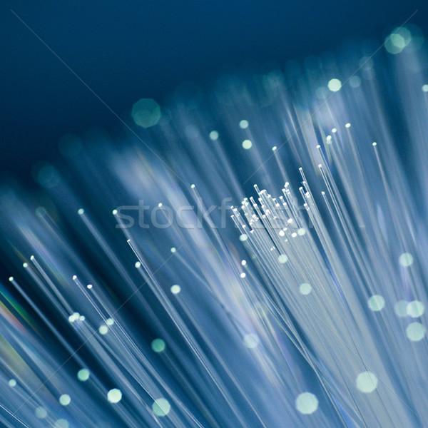 Luz cabo fibra vidro Foto stock © ChrisJung