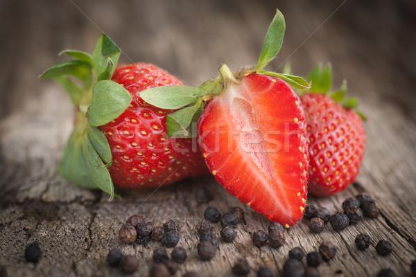 Strawberries, black pepper  Stock photo © ChrisJung