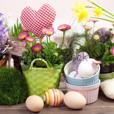 Páscoa tempo ovo ovo de páscoa casa de campo Foto stock © ChrisJung