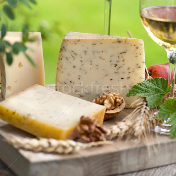 Vino formaggio piatto natura break Foto d'archivio © ChrisJung