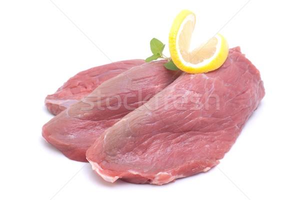 Borjúhús fehér föld hús steak Stock fotó © ChrisJung