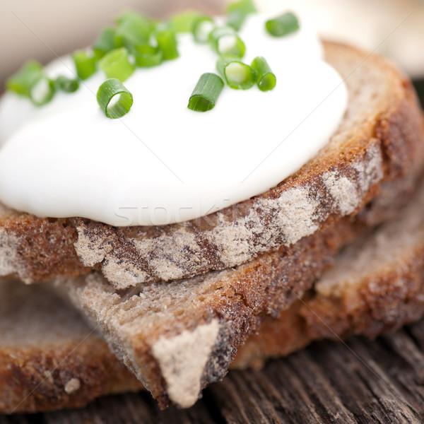 Pan frescos comida hierba nutrición rústico Foto stock © ChrisJung
