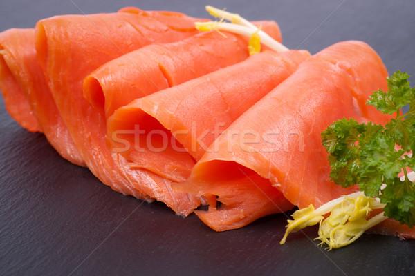 Smoked Salmon Stock photo © ChrisJung