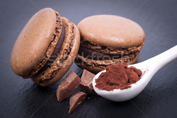 Chocolate Macaroon Stock photo © ChrisJung