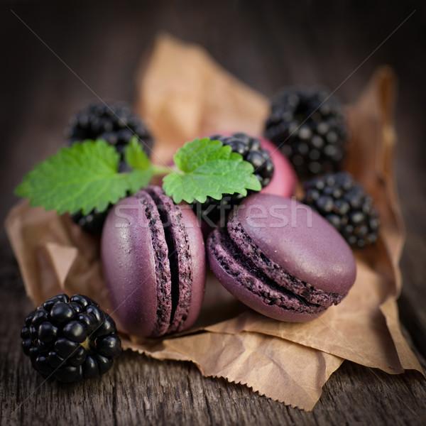 Blackberry macaroon Stock photo © ChrisJung