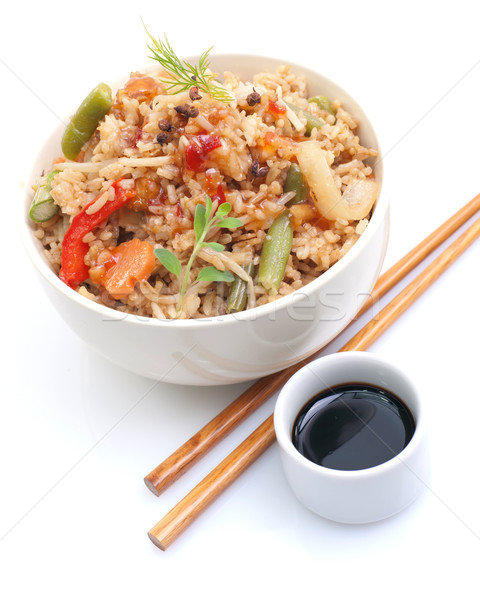 Asian rice dish Stock photo © ChrisJung