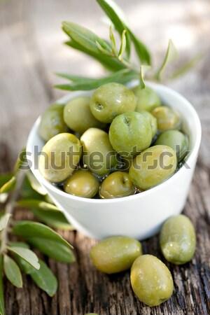 świeże oliwek puchar diety Zdjęcia stock © ChrisJung