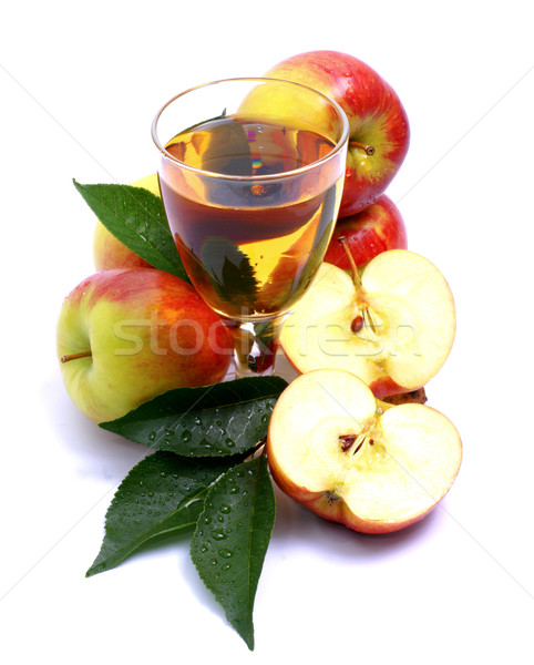 Almalé friss gyümölcs táplálkozás Stock fotó © ChrisJung