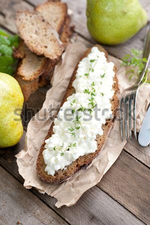 Fresco rústico pão refeição erva nutrição Foto stock © ChrisJung