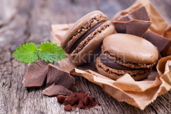 Chocolate Macaroon Stock photo © ChrisJung