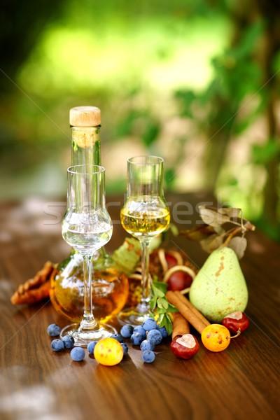 Licor frutas pera decoración canela Foto stock © ChrisJung