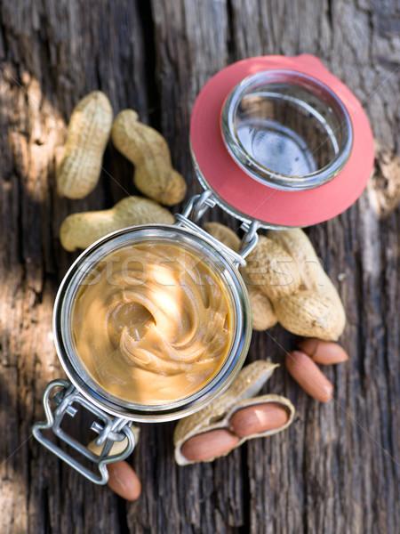 Burro di arachidi vetro alimentare dolce raccolto nutrizione Foto d'archivio © ChrisJung