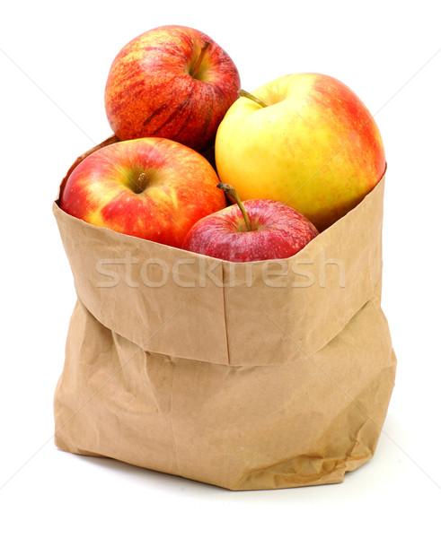 Fresche mele bianco terra Foto d'archivio © ChrisJung