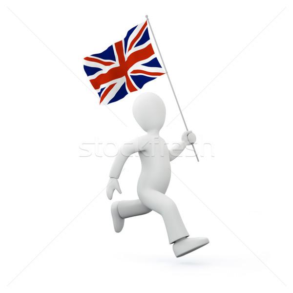 Holding a flag of the united kingdom Stock photo © chrisroll