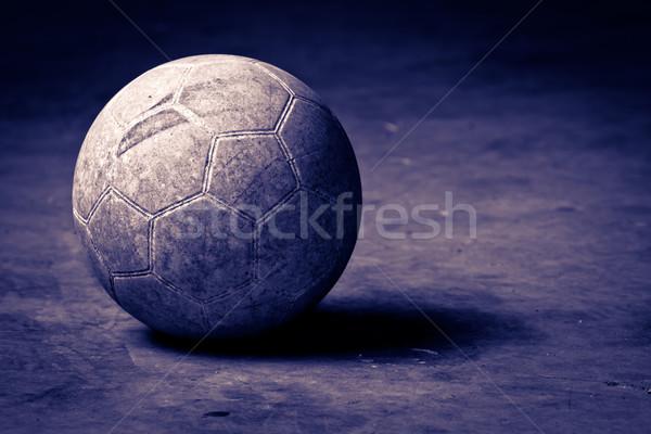 Basquetebol cimento piso vintage quadro futebol Foto stock © chrisroll
