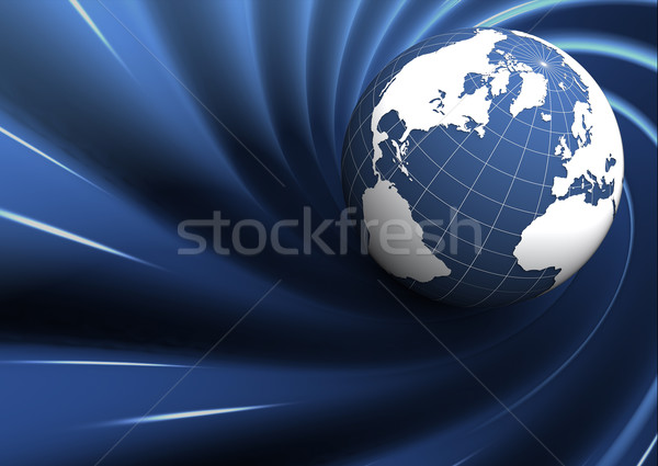 blue earth on abstract background Stock photo © chrisroll