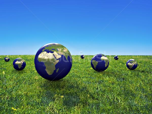 地球 保全 3D 画像 デザイン 世界 ストックフォト © chrisroll