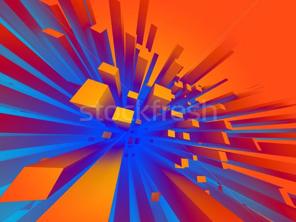 ストックフォト: 抽象的な · 3D · 建築の · 黒 · アーキテクチャ