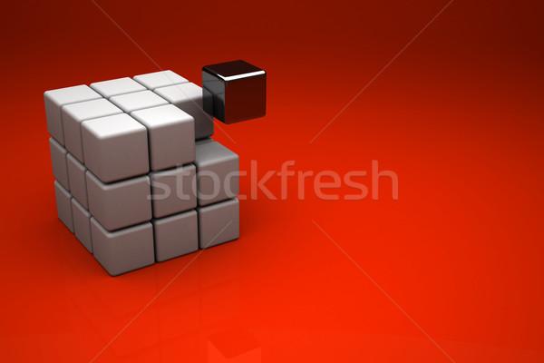 3d cube Stock photo © chrisroll