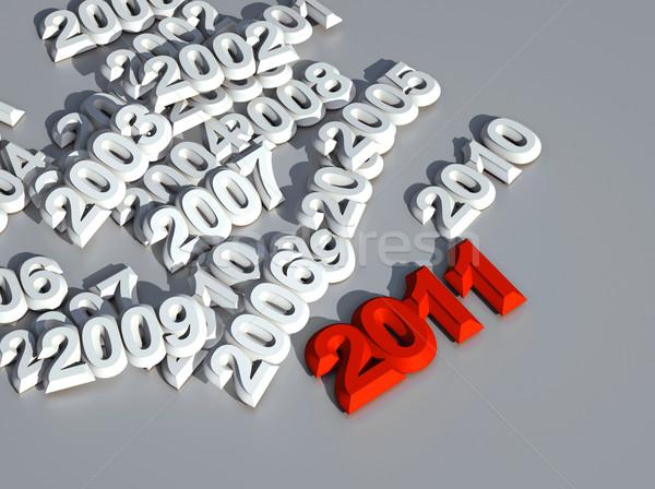 3d new year 2011 Stock photo © chrisroll