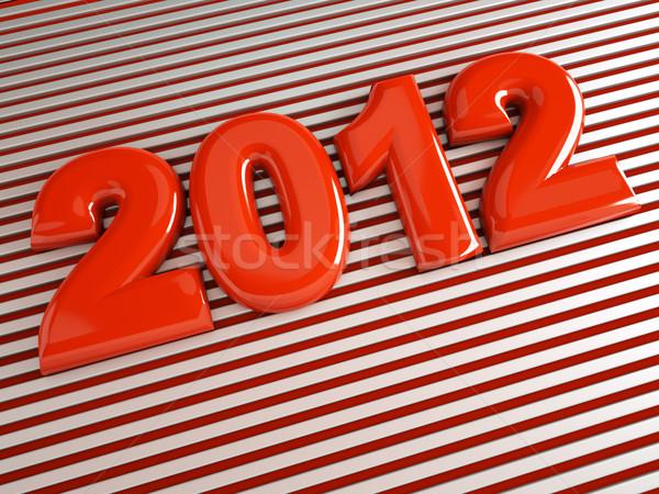 3D 2012 縞模様の 背景 ストックフォト © chrisroll