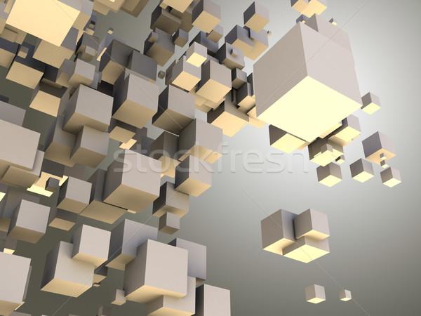 Architectural résumé structure 3D photos design Photo stock © chrisroll