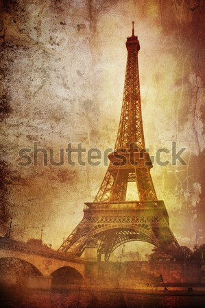 Vintage eiffel tower Stock photo © chrisroll