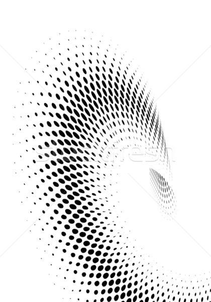 Halftone absztrakt hullámos festék sebesség vállalati Stock fotó © chrisroll