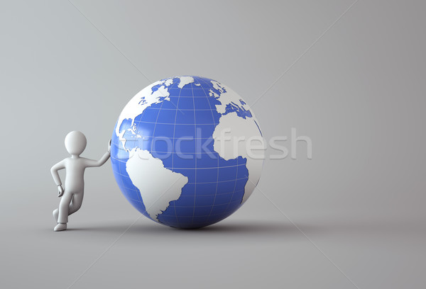 character with blue globe Stock photo © chrisroll