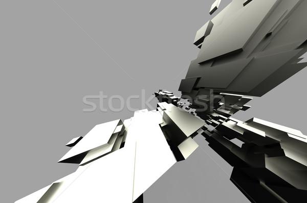 Absztrakt futurisztikus fraktál fény terv festék Stock fotó © chrisroll