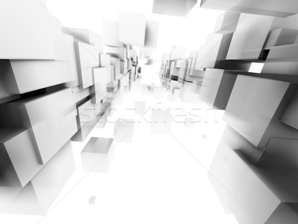 Arquitectónico diseno resumen estructura blanco ciencia Foto stock © chrisroll