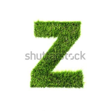 3D трава письме изолированный белый текстуры Сток-фото © chrisroll