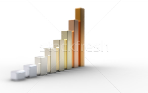 3d graph Stock photo © chrisroll