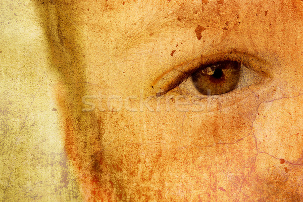 Szomorú gyermek textúra szem egészség oktatás Stock fotó © chrisroll