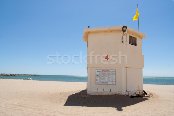 спасатель стоять станция пляж пейзаж морем Сток-фото © chrisroll