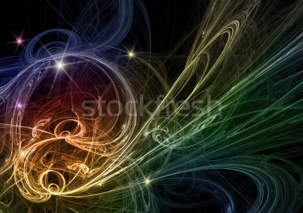 Photo stock: Résumé · fractal · design · futuriste · lumière · peinture