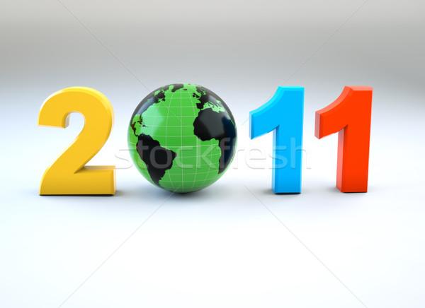 3d new year 2011 illustration Stock photo © chrisroll