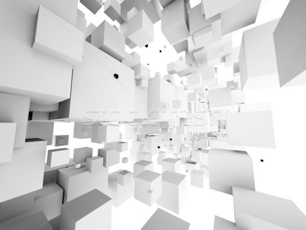 建築の デザイン 抽象的な 構造 白 科学 ストックフォト © chrisroll