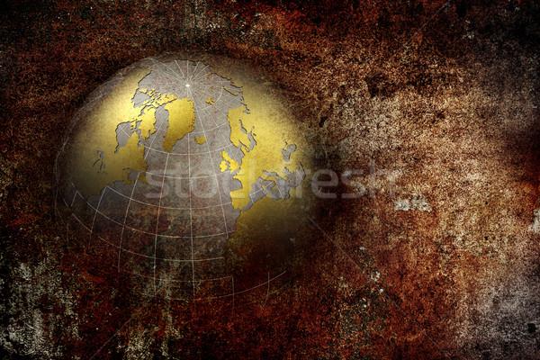 Grunge résumé mer design monde technologie Photo stock © chrisroll